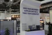 Надпись на стенде Clifford на выставке Wire 2014 в Дюссельдорфе: А Ваш поставщик может предоставить вам 3-х летнюю гарантию на оборудование?